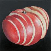 an apple a day 19, Ölfarbe auf LW,  20 x 20 cm