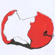 apple 5, prin/ink, 25 x 15 cm