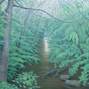 rivulet, Ölfarbe a. LW, 100 x 80 cm