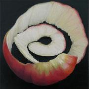an apple a day 16, Ölfarbe auf LW,  20 x 20 cm