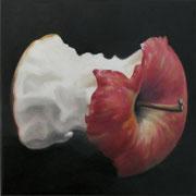 an apple a day 20, Ölfarbe auf LW,  20 x 20 cm