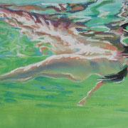 Schweben, Pastell, 29 x 39 cm
