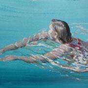 Wasserfrau3, Mixmedia 29 x 39 cm
