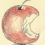 apple2, pencil, 9 x 9 cm
