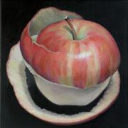 an apple a day 13, Ölfarbe auf LW,  20 x 20 cm