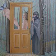 Morpho peleides, Ölfarbe a. LW, 100 x130