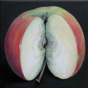 an apple a day 9, Ölfarbe auf LW,  20 x 20 cm