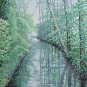 rivulet Dahme, Ölfarbe a. LW, 100 x 80 cm