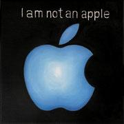an apple a day 5, Ölfarbe auf LW,  20 x 20 cm
