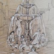 Skizze 1 Jungbrunnen ca. 28 x 14 cm