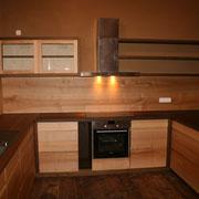 Massivholzküche Räuchereiche und Esche - Teilansicht