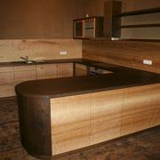 Massivholzküche Räuchereiche und Esche - Ansicht