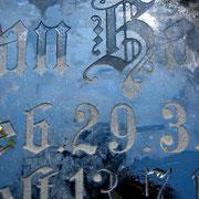 Grabplatte in Greetsiel