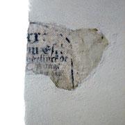Eilsum | Kirche | Schriftfragment