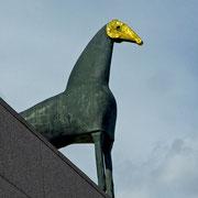 Strasbourg | Musée d'Art Moderne | Pferdeskulptur von Mimmo Paladino