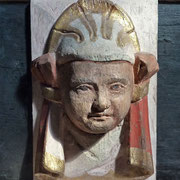 Rieseby | Kirche | geschnitzter Frauenkopf