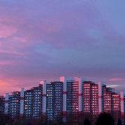 Bensberg | Hochhäuser bei Sonnenuntergang