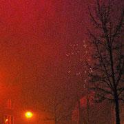 Silvester nach dem Feuerwerk