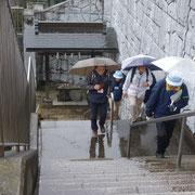 11.杉山神社の階段です