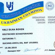 VALI DLXA ROVEN Чемпион Украины
