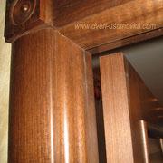 Фото 1.3. Сведение наличника, дверной коробки, декоративного элемента.