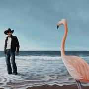 Flamingo, was machst du denn hier? (80x120)