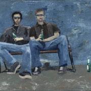 Schräge Personen (40x50)