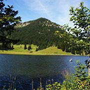 Der schöne Berg ist von jedem Winkel aus zu sehen