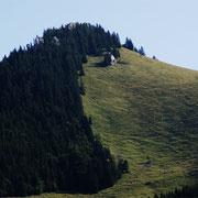 Der Berg von einer anderen Seite betrachtet, früh am morgen
