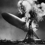 Трагическая гибель «Гинденбурга» — окончание эпохи дирижаблей, США, 6 мая 1937 года.