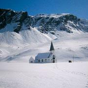 Норвежская лютеранская церковь на острове Южная Георгия,фотография выполнена 27 сентября 2011 года.