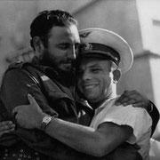 Встреча Юрий Гагарин и Фидель Кастро в Гаване, 1961 год.