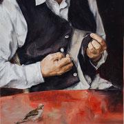 Der Versuch, 2014, Öl auf Leinwand, 60 x 50 cm