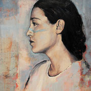 Die Entscheidung, 2011, Öl auf Leinwand, 70 x 50 cm