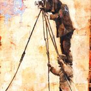 Das Krizzikrazzi, 2017, Öl auf MDF, 40 x 30 cm