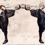 Kugelfisch, 2014, Öl auf Leinwand, 90 x 150 cm