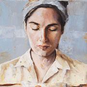 Still, 2014, Öl auf Holz, 35 x 40 cm