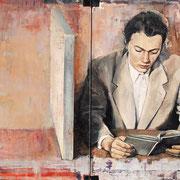 Leser, 2011, Öl auf Leinwand, 70 x 120 cm