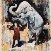 Mirakel, 2015, Öl auf MDF, 90 x 78 cm