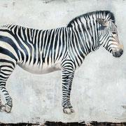 Zebra I, 2011, Öl auf Leinwand, 115 x 150 cm