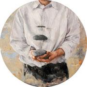 Leicht, 2014, Öl auf MDF, 67 cm, *