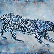 Leopard II, 2015, Öl auf Leinwand, 80 x 120 cm
