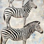 Zebras, 2018, Öl auf Leinwand, 180 x 130 cm, *