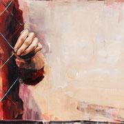 Balance, 2015, Öl auf MDF, 40 x 80 cm,*