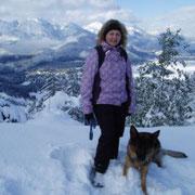Sonja und Fehja auf Winterbergtour