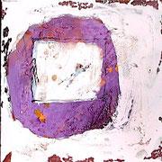 reise in den süden I - 5-teilig - acryl auf leinwand, je 40 x 40 cm