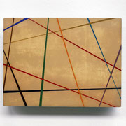 kreuzundquer, 2007, 30 x 35 x 4 cm, Sperrholz, Lack, Pigment