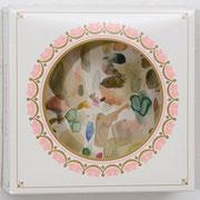 o.T. 2013 Aquarellfarbe, Tortenkarton 20,2 x 20,5 x 7,2 cm