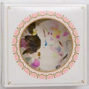 o.T. 2013 Aquarellfarbe, Bleistift, Tortenkarton 20,2 x 20,5 x 7,2 cm