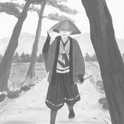 挿絵練習C・「潮騒はるか」葉室麟 2016